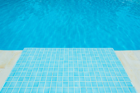 Blue tile in swimming pool