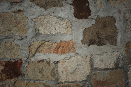 textured wall: Sandstone wall background and textured Stock Photo