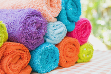 absorbent: Roll of Multicolor towels