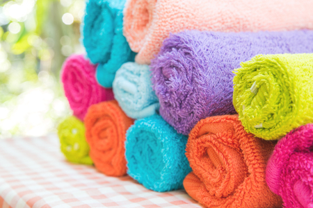 Roll of Multicolor towels