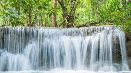 Huay Mea Kamins waterfall, Located Kanchanaburi Province, Thailand Stock Photo