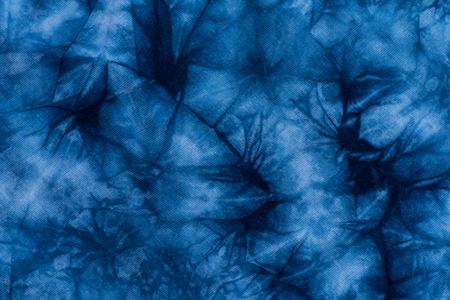 textil: Pattern of Indigo batik dye on cotton cloth, Dye indigo fabric backgrond and texture