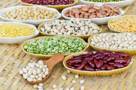 Prepared vmulticolor dried legumes for cooking