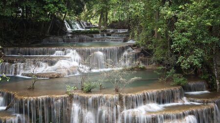 Beautiful and Breathtaking waterfall, Erawans waterfall, Located Kanchanaburi Province, Thailand