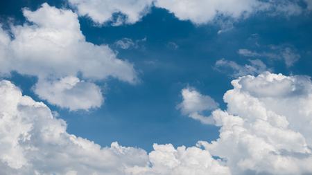 Wonderful blue sky and white clouds in summer season