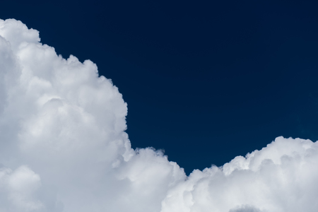 Close-up cumulus cloud on blue sky Stock Photo