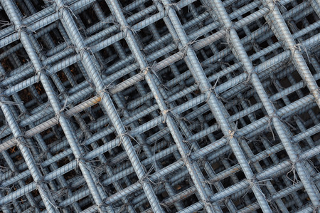 reinforcing: Steel wire background, Foundation rods at the construction site