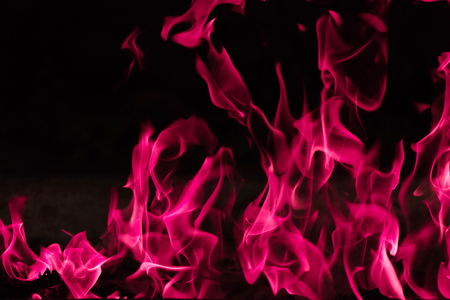 Blazing pink fire background and textured Stock Photo