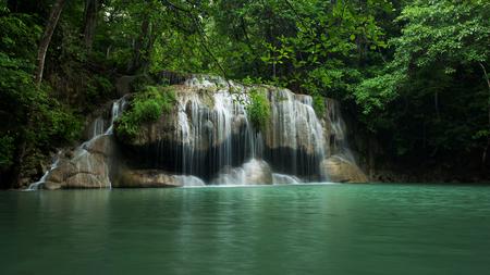 Erawan waterfall located Khanchanaburi province, Thailand