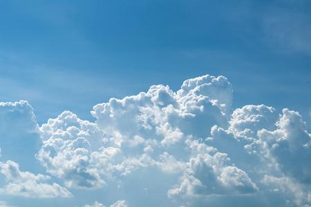 Cumululonimbus cloudscape with blue sky Stock Photo