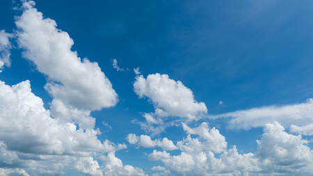 Wonderful blue sky and white clouds