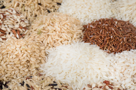 Jasmine rice with different rice organic for eating healthy Archivio Fotografico