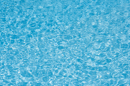 Wonderful blue and bright ripple water and surface in swimming pool, Beautiful motion gentle wave in pool Banque d'images - 106164986