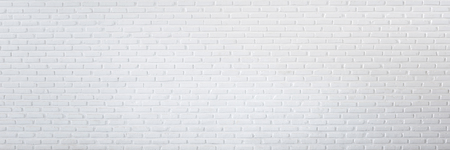 Pattern of white brick wall for background and textured, Seamless white brick wall background panorama Banque d'images - 105349317