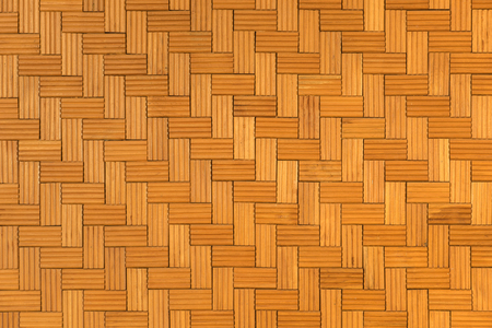 Beautiful pattern of wooden wall for background and texture, Seamless surrounding brown brick wall Banque d'images - 106164997
