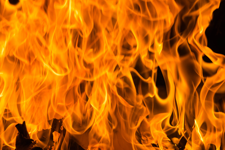 Blazing fire flame background and textured Banque d'images - 106164998