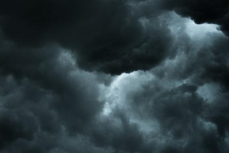 Closeup storm cloud before rainy, Motioc black cloud in summer 스톡 콘텐츠
