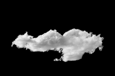 Single white cloud isolated on black sky Banque d'images - 106165688