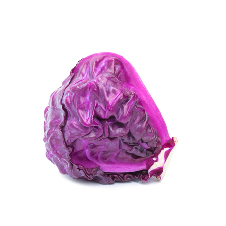 Purple cabbage isolated on white background, Prepared cabbage for cooking Banque d'images - 109886889