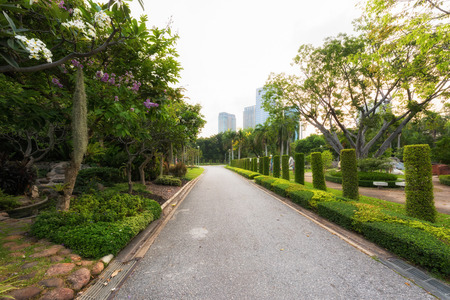 Road at the replublic park and urban background Banque d'images - 109886896
