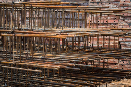 Stack of steel fixing at the construction site Banque d'images - 109886900