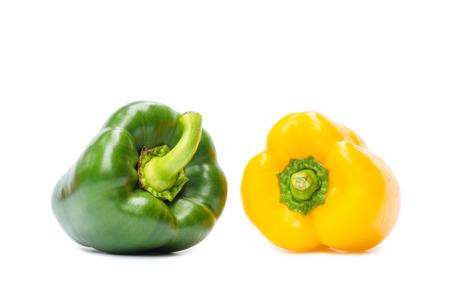 Sweet bell pepper isolated on white background Standard-Bild - 109886936