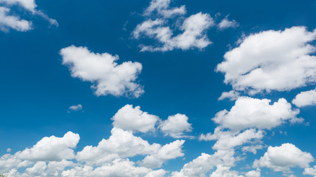 Wonderful white cumulus clouds on blue sky Standard-Bild - 109886935
