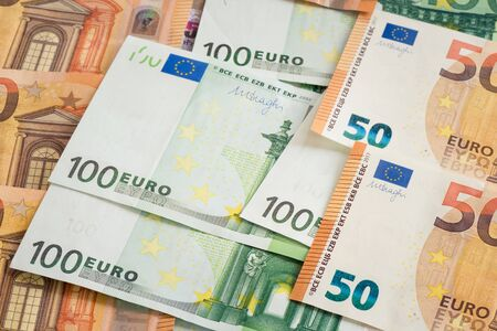 EUR banknote for business background