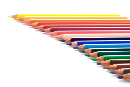A group of multicolored pencils photo