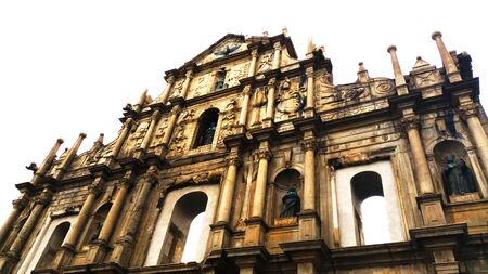 st pauls: The Ruins of St. Pauls Macau Stock Photo