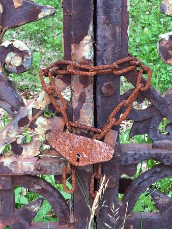 rusty: Rusty gate Stock Photo