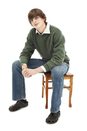 カジュアルな若い男の肖像 写真素材