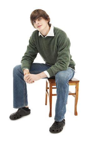 Portret van een jonge man casual