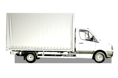 consignment: White Truck Stock Photo