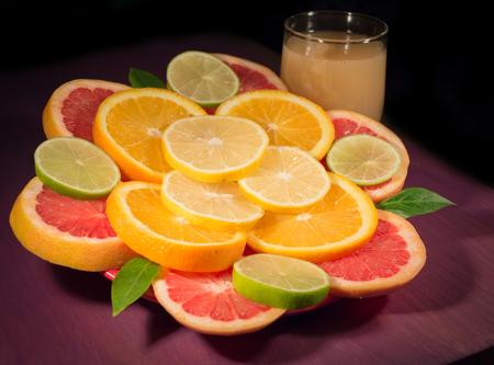 Grapefruit Orange Lime Lemon Juice photo