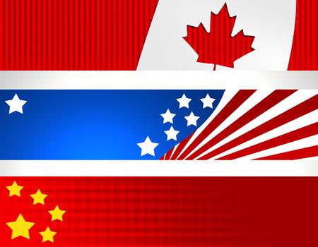 China Canada USA Banner High resolution