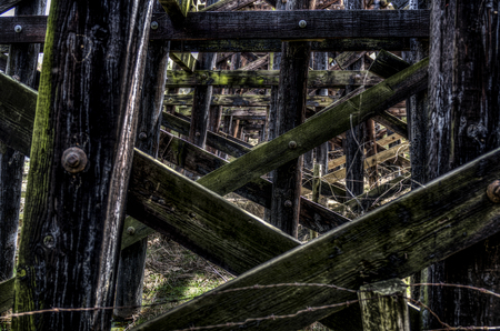 Railroad trestles Stock Photo
