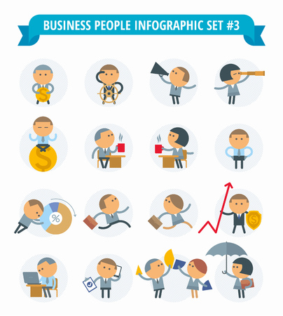 empty pocket: The set of graphic metaphors on the theme of business and office.The illustration of people in various situations. Illustration