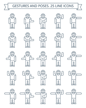 warming up: dark grey men icons on white background suitable for infographics.
