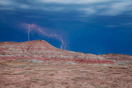 wyoming: Lightning in the Wyoming badlands