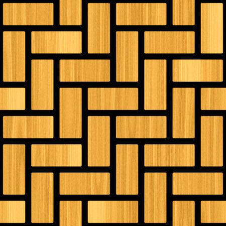 interior decoration: Abstract paneling pattern - Abstract timber mosaic block Stock Photo