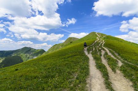 Mala Fatra mountain, Slovakia, Europe - Walking tourist in National park Mala Fatra