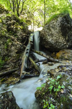 Mala Fatra mountain, Slovakia, Europe - Waterfall in National park Mala Fatra Stock Photo