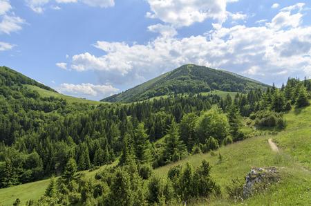 Mala Fatra mountain, Slovakia, Europe - View on mountain Stoh in National park Mala Fatra Stock Photo