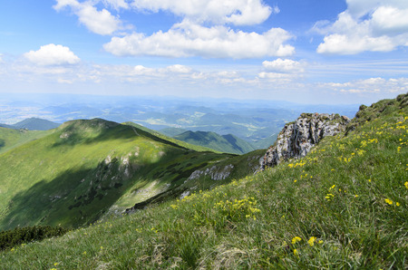 mala fatra: Mala Fatra mountain, Slovakia, Europe - Mountain view in National park Mala Fatra