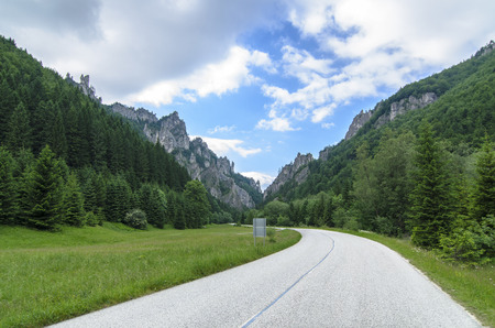 mala fatra: Mala Fatra mountain, Slovakia, Europe - Lonely road in beautiful National Park Mala Fatra