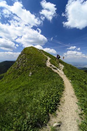 mala fatra: Mala Fatra mountain, Slovakia, Europe - Walking tourist in National park Mala Fatra
