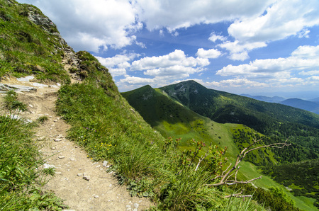 mala fatra: Mala Fatra mountain, Slovakia, Europe - Mountain path in National park Mala Fatra Stock Photo