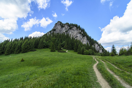 Mala Fatra mountain, Slovakia, Europe - Maly Rozsutec with hiking path in National park Mala Fatra Stock Photo