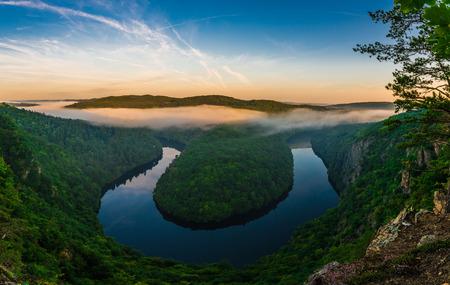valley view: Maj Viewpoint, Vltava river meander horseshoe shape